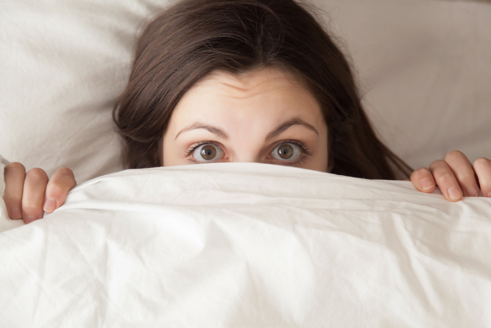 woman-hiding-because-she-had-a-nightmare